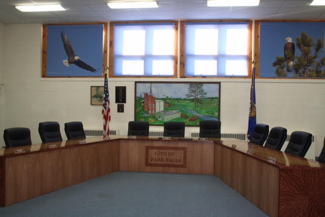 Our new City Council table & window coverings